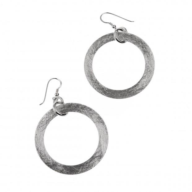 Ohrringe - gebürstet 925er Silber