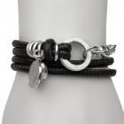 Reptil Armband schwarz matt